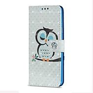 Недорогие Чехлы и кейсы для Galaxy S-Кейс для Назначение SSamsung Galaxy S9 S9 Plus Бумажник для карт Кошелек со стендом Флип Магнитный С узором Сова Твердый для