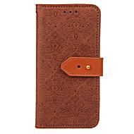 Недорогие Чехлы и кейсы для Galaxy S8-Кейс для Назначение SSamsung Galaxy S9 Plus S9 Кошелек Бумажник для карт со стендом Флип Рельефный Чехол Сплошной цвет Твердый
