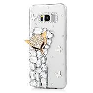 Недорогие Чехлы и кейсы для Galaxy S7-Кейс для Назначение SSamsung Galaxy S8 Plus S8 Стразы С узором Кейс на заднюю панель Животное Твердый Акрил для S8 Plus S8 S7 edge S7