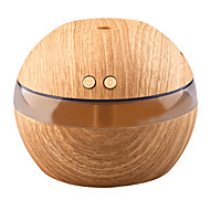 abordables Luces inteligentes-yk30 mini fabricante de niebla portátil aroma difusor de aceite esencial humidificador de aroma ultrasónico difusor usb de madera