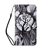 Недорогие Кейсы для iPhone 8-Кейс для Назначение Apple iPhone 8 iPhone 8 Plus Бумажник для карт Кошелек Стразы со стендом С узором Чехол дерево Твердый Кожа PU для