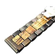 Недорогие Аксессуары для смарт-часов-Ремешок для часов для Gear S3 Frontier / Huawei Watch Samsung Galaxy / Huawei Классическая застежка Дерево Повязка на запястье