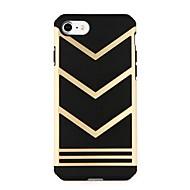 Недорогие Кейсы для iPhone 8 Plus-Кейс для Назначение Apple iPhone 6 iPhone 7 Защита от удара Рельефный Кейс на заднюю панель Геометрический рисунок Панк Твердый ПК для
