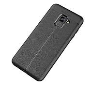 Недорогие Чехлы и кейсы для Galaxy A7(2017)-Кейс для Назначение Samsung A8 2018 A8 Plus 2018 Матовое Кейс на заднюю панель Сплошной цвет Мягкий ТПУ для A5(2018) A7(2018) A3 (2017)