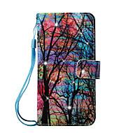 Недорогие Чехлы и кейсы для Galaxy S7 Edge-Кейс для Назначение SSamsung Galaxy S7 edge S7 Бумажник для карт Кошелек Стразы со стендом С узором Чехол дерево Твердый Кожа PU для S7