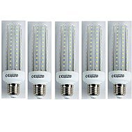 tanie Żarówki LED kukurydza-5pcs 19W 1600lm E27 Żarówki LED kukurydza T30 96 Diody LED SMD 3528 Zimna biel 6400K AC 110-240V