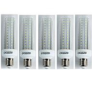 abordables Bombillas LED de Mazorca-5pcs 19W 1600 lm E27 Bombillas LED de Mazorca T30 96 leds SMD 3528 Blanco Fresco AC 110-240V