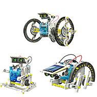 preiswerte Spielzeuge & Spiele-14 in 1 GE615 Roboter Solar betriebene Spielsachen Fahrzeuge Auto Transformierbar Heimwerken ABS Kinder Jungen Mädchen Spielzeuge Geschenk