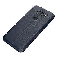お買い得  携帯電話ケース-ケース 用途 LG V30 Q6 つや消し エンボス加工 バックカバー 純色 ソフト TPU のために LG V30 LG Q6 LG K10(2017) LG G6