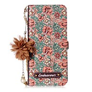 Недорогие Чехлы и кейсы для Galaxy S7-Кейс для Назначение SSamsung Galaxy S8 Plus S8 Бумажник для карт со стендом Флип С узором Своими руками Чехол Цветы Твердый Кожа PU для