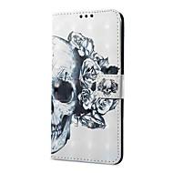 billige Mobilcovers-Etui Til Vivo X20 Plus X20 Kortholder Pung Med stativ Flip Magnetisk Mønster Fuldt etui Dødningehoveder Hårdt PU Læder for vivo X20 Plus