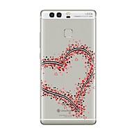 billige Mobilcovers-Etui Til Huawei P9 Huawei P9 Lite Huawei P8 Huawei Huawei P9 Plus Huawei P8 Lite P9 P10 Transparent Mønster Bagcover Hjerte Blødt TPU for