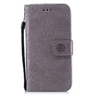 Недорогие Кейсы для iPhone 8 Plus-Кейс для Назначение Apple iPhone X iPhone 8 Plus Кошелек Бумажник для карт со стендом Флип С узором Чехол Сплошной цвет Кружева Печать