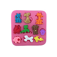Χαμηλού Κόστους Εργαλεία κουζίνας-Κουπ-πατ Μπισκότων Γάτα Σκύλοι Γουρούνι για Candy για Cookie για κέικ για Σοκολάτα Κέικ Silica Gel Φτιάξτο Μόνος Σου Ημέρα Ευχαριστιών