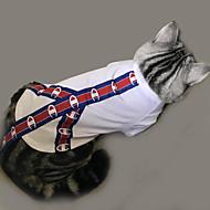 고양이 강아지 티셔츠 강아지 의류 캐쥬얼/데일리 솔리드 패턴 화이트 코스츔 애완 동물
