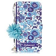 Недорогие Чехлы и кейсы для Galaxy А-Кейс для Назначение SSamsung Galaxy A5(2017) A3(2017) Бумажник для карт со стендом Флип С узором Своими руками Чехол Цветы Твердый Кожа PU