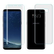 Недорогие Чехлы и кейсы для Galaxy S-Защитная плёнка для экрана Samsung Galaxy для S8 TPG Hydrogel 2 штs Защитная пленка для экрана и задней панели Самозаживление 3D