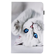 abordables Fundas para Kindle-Funda Para Amazon con Soporte Flip Funda de Cuerpo Entero Gato Dura Cuero de PU para Kindle Fire hd 8(6th Generation, 2016 Release)