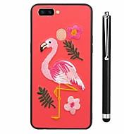 お買い得  携帯電話ケース-ケース 用途 Vivo X20 Plus X20 パターン バックカバー フラミンゴ 動物 ソフト TPU のために vivo X20 Plus vivo X20