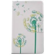 Недорогие Чехлы и кейсы для Samsung Tab-Кейс для Назначение SSamsung Galaxy Tab 3 Lite Бумажник для карт со стендом Флип С узором Чехол одуванчик Твердый Кожа PU для Tab 3 Lite