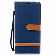 Недорогие Чехлы и кейсы для Galaxy Note 8-Кейс для Назначение Samsung Note 8 Бумажник для карт Кошелек Защита от удара со стендом Флип Чехол Сплошной цвет Твердый текстильный для