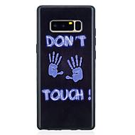 Недорогие Чехлы и кейсы для Galaxy Note-Кейс для Назначение SSamsung Galaxy Note 8 С узором Кейс на заднюю панель Слова / выражения Мягкий ТПУ для Note 8