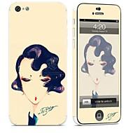 Недорогие Защитные плёнки для экрана iPhone-1 ед. Наклейки для Защита от царапин Соблазнительная девушка Узор PVC iPhone 5c