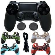 ps4에 대한 실리콘 케이스와 무선 블루투스 게임 컨트롤러 gamepad 컨트롤러 조이스틱 gamepads