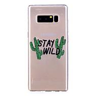 Недорогие Чехлы и кейсы для Galaxy Note 8-Кейс для Назначение SSamsung Galaxy Note 8 Полупрозрачный С узором Кейс на заднюю панель Слова / выражения Мягкий ТПУ для Note 8