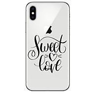 Недорогие Кейсы для iPhone 8 Plus-Кейс для Назначение Apple iPhone X / iPhone 8 Ультратонкий / С узором Кейс на заднюю панель Слова / выражения Мягкий ТПУ для iPhone X / iPhone 8 Pluss / iPhone 8
