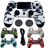 abordables Accesorios para PS4-Game Controller Case Protector / Control de Videojuego Para PS4 ,  Empuñadura de Juego Game Controller Case Protector / Control de Videojuego Silicona / ABS 1 pcs unidad