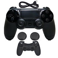 billiga PS4-tillbehör-for PS4 Trådlös / Bluetooth 3.0 Game Controller Kit Till PS4 ,  Med Laddare / Gaming Handtag / Trådlös Blixtkontroll Game Controller Kit Silikon / ABS 1 pcs enhet