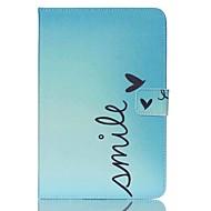 Недорогие Чехлы и кейсы для Samsung Tab-Кейс для Назначение Samsung Tab A 8.0 Кошелек Бумажник для карт со стендом С узором Авто Режим сна / Пробуждение Чехол Слова Твердый Кожа
