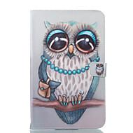 Недорогие Чехлы и кейсы для Galaxy Tab E 9.6-Кейс для Назначение SSamsung Galaxy Tab E 9.6 Кошелек со стендом Флип С узором Авто Режим сна / Пробуждение Чехол Сова Твердый Кожа PU для