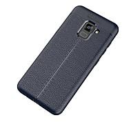 Недорогие Чехлы и кейсы для Galaxy A5(2017)-Кейс для Назначение Samsung A8 2018 A8 Plus 2018 Ультратонкий Кейс на заднюю панель Сплошной цвет Мягкий ТПУ для A5(2018) A7(2018) A3