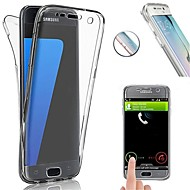Недорогие Чехлы и кейсы для Galaxy S-Кейс для Назначение SSamsung Galaxy S8 Plus / S8 Защита от удара / Ультратонкий Чехол Однотонный Мягкий ТПУ для S8 Plus / S8 / S7 edge