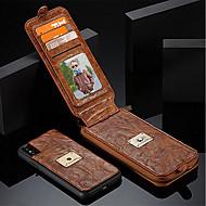 Недорогие Кейсы для iPhone 8-Кейс для Назначение Apple iPhone X iPhone 8 Бумажник для карт Кошелек Защита от удара со стендом Флип Чехол Сплошной цвет Твердый