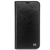 Недорогие Чехлы и кейсы для Galaxy S-Кейс для Назначение SSamsung Galaxy S8 Plus S8 Бумажник для карт Защита от удара Флип Чехол Сплошной цвет Твердый Настоящая кожа для S8