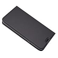 お買い得  携帯電話ケース-ケース 用途 LG Q6 カードホルダー スタンド付き フルボディーケース 純色 ハード PUレザー のために LG Q6