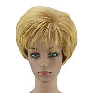 Недорогие Парики-Искусственные волосы парики Кудрявый Природные волосы Стрижка каскад Без шапочки-основы Парик из натуральных волос Парики для косплей