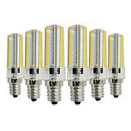 halpa LED Bi-Pin lamput-YWXLIGHT® 6kpl 7W 600-700lm E14 LED Bi-Pin lamput T 152 LED-helmet SMD 3014 Himmennettävissä Koristeltu Lämmin valkoinen Kylmä valkoinen