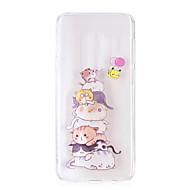 billige Etuier / covers til Galaxy S-modellerne-Etui Til Samsung Galaxy S9 S9 Plus Transparent Mønster Bagcover Kat Blødt TPU for S9 Plus S9 S8 Plus S8 S7 edge S7 S6 edge S6