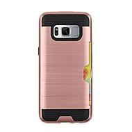 Недорогие Чехлы и кейсы для Galaxy S8 Plus-Кейс для Назначение SSamsung Galaxy S8 Plus S8 Бумажник для карт броня Кейс на заднюю панель Сплошной цвет Твердый пластик для S8 Plus S8