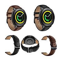 Urrem for Gear Sport / Gear S2 Classic / Huawei Watch 2 Samsung Galaxy Klassisk spænde Ægte læder Håndledsrem