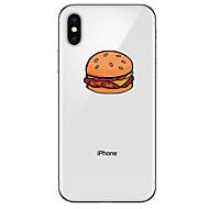 Недорогие Кейсы для iPhone 8-Кейс для Назначение Apple iPhone X / iPhone 8 Прозрачный / С узором Кейс на заднюю панель Продукты питания Мягкий ТПУ для iPhone XS / iPhone XR / iPhone XS Max
