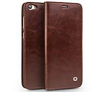 preiswerte Handyhüllen-Hülle Für Vivo X7 Plus X7 Kreditkartenfächer Geldbeutel Stoßresistent Flipbare Hülle Ganzkörper-Gehäuse Volltonfarbe Hart Echtleder für