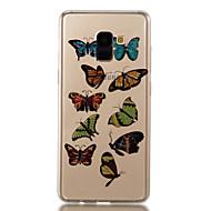 Недорогие Чехлы и кейсы для Galaxy A3(2017)-Кейс для Назначение SSamsung Galaxy A8 2018 A8 Plus 2018 IMD С узором Кейс на заднюю панель Бабочка Сияние и блеск Мягкий ТПУ для A3