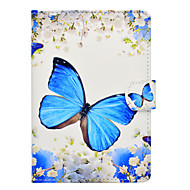 cheap Tablet Accessories-Case For Amazon Kindle PaperWhite 1(1st Generation, 2012 Release) / Kindle PaperWhite 2(2nd Generation, 2013 Release) Card Holder / Shockproof / with Stand Full Body Cases Butterfly Hard PU Leather