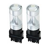 Недорогие Внешние огни для авто-SENCART 2pcs 3157 Автомобиль / Мотоцикл Лампы 30W Интегрированный LED 1200lm 6 Светодиодные лампы Внешние осветительные приборы For