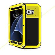 Недорогие Чехлы и кейсы для Galaxy S-Кейс для Назначение SSamsung Galaxy S7 Вода / Грязь / Надежная защита от повреждений Чехол Сплошной цвет Твердый Металл для S7